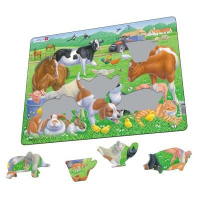 Larsen-FH35 Rahmenpuzzle - Tiere auf dem Bauernhof