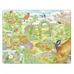 Larsen-FH37 Rahmenpuzzle - Garten Vögel und Blumen