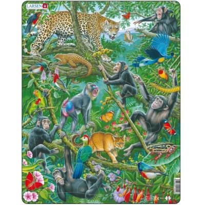 Larsen-FH41 Rahmenpuzzle - Afrikanischer Regenwald