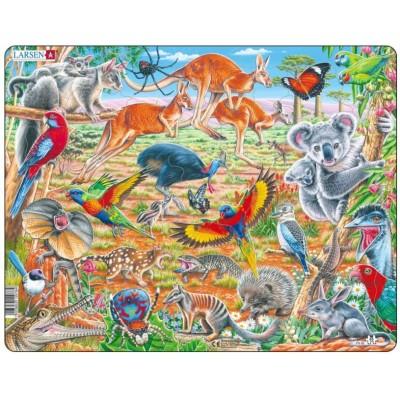 Larsen-FH45 Rahmenpuzzle - Autralische Fauna