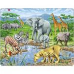 Larsen-FH9 Rahmenpuzzle - Tiere der afrikanischen Savanne