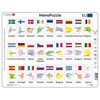 Larsen-GP2-GB Rahmenpuzzle - MemoPuzzle (auf Englisch)
