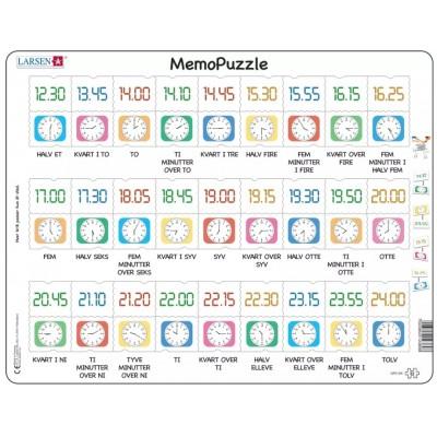 Larsen-GP5-DK Rahmenpuzzle - MemoPuzzle (auf Dänisch)