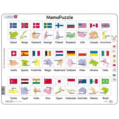 Larsen-GP6-NO Rahmenpuzzle - MemoPuzzle (auf Norwegisch)