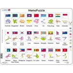 Larsen-GP7-GB Rahmenpuzzle - The Flags and Capitals of 27 Countries in Asia and the Pacific