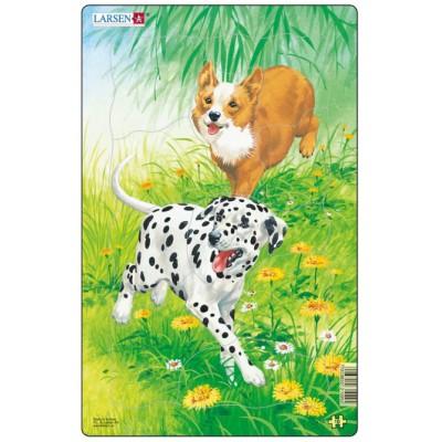 Larsen-H19-1 Rahmenpuzzle - Hunde