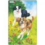 Larsen-H19-2 Rahmenpuzzle - Hunde