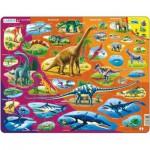 Larsen-HL1-DE Rahmenpuzzle - Dinosaurier