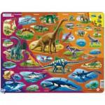 Larsen-HL1-FR Rahmenpuzzle - Dinosaurier (auf Französisch)
