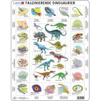Larsen-HL9-DE Rahmenpuzzle - Dinosaurier