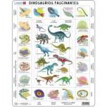 Larsen-HL9-ES Rahmenpuzzle - Dinosaurier (auf Spanisch)