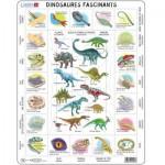Larsen-HL9-FR Rahmenpuzzle - Dinosaurier (auf Französisch)