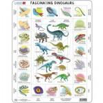 Larsen-HL9-GB Rahmenpuzzle - Dinosaurier (auf Englisch)