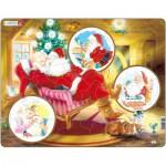 Larsen-JUL2 Rahmenpuzzle - Träumender Weihnachtsmann