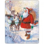 Larsen-JUL8 Rahmenpuzzle - Weihnachtsmann