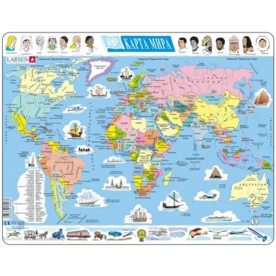 Larsen-K1-RU Rahmenpuzzle - Die Erde (auf Russisch)