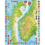 Larsen-K10-NO Rahmenpuzzle - Norwegen (auf Norwegisch)
