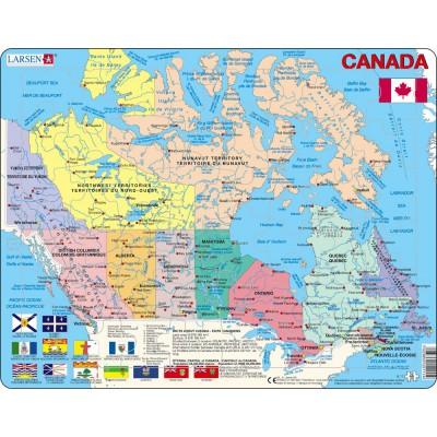 Larsen-K11-V1 Rahmenpuzzle - Kanada (auf Französisch und Englisch)