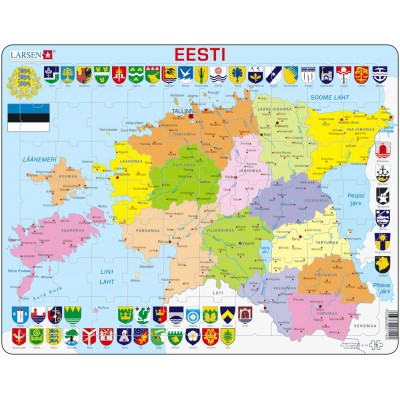 Larsen-K14-EE Rahmenpuzzle - Estland (auf Estnisch)
