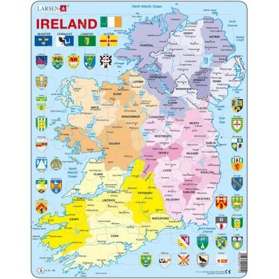 Larsen-K15-GB Rahmenpuzzle - Irland (auf Englisch)