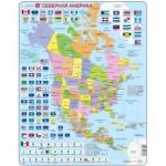 Larsen-K17-RU Rahmenpuzzle - Nordamerika (auf Russisch)