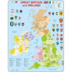 Larsen-K18-GB Rahmenpuzzle - Great Britain and Ireland (auf Englisch)