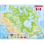 Larsen-K19-V1 Rahmenpuzzle - Kanada (auf Französisch und Englisch)