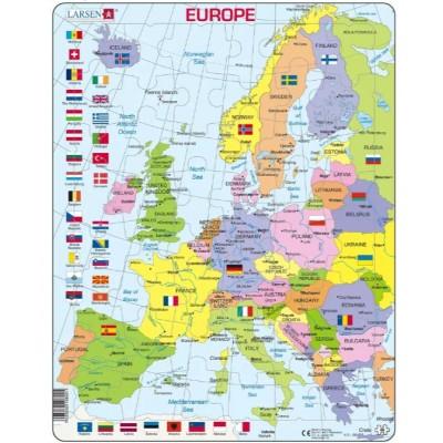 Larsen-K2-GB Rahmenpuzzle - Europa (auf Englisch)