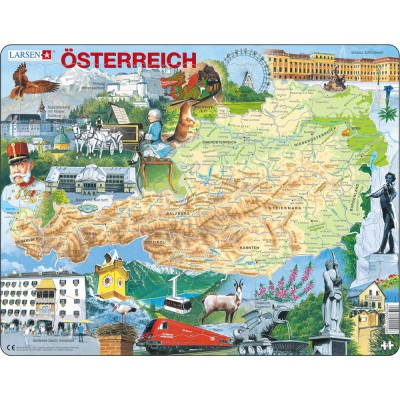 Larsen-K20-DE Rahmenpuzzle - Österreich