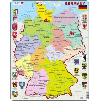Larsen-K21-GB Rahmenpuzzle - Germany (auf Englisch)