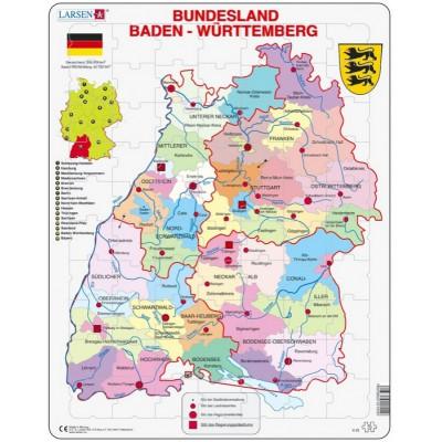 Larsen-K22-DE Rahmenpuzzle - Bundesland: Baden Württemberg