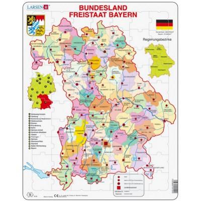 Larsen-K24-DE Rahmenpuzzle - Bundesland: Freistaat Bayern