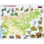 Larsen-K25-SI Rahmenpuzzle - Slowenien (auf Slowenisch)