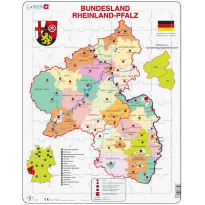 Larsen-K26-DE Rahmenpuzzle - Bundesland: Rheinland-Pfalz