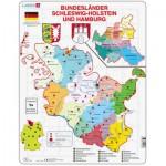 Larsen-K28-DE Rahmenpuzzle - Bundesland: Hamburg and Schleswig-Holstein