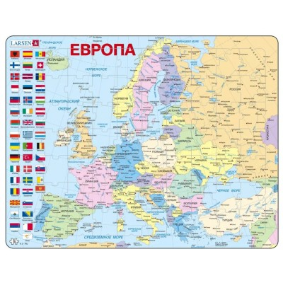 Larsen-K2W-RU Rahmenpuzzle - Europa (auf Russisch)