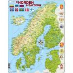 Larsen-K3-V1 Rahmenpuzzle - Die nordischen und baltischen Länder