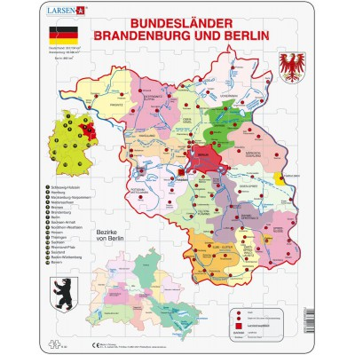 Larsen-K30-DE Rahmenpuzzle - Brandenburg und Berlin
