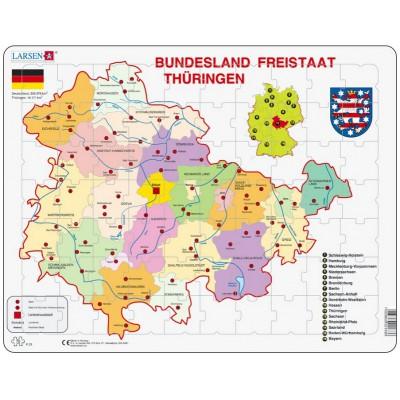 Larsen-K33-DE Rahmenpuzzle - Bundesland: Freistaat Thüringen