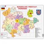 Larsen-K33 Rahmenpuzzle - Bundesland: Freistaat Thüringen