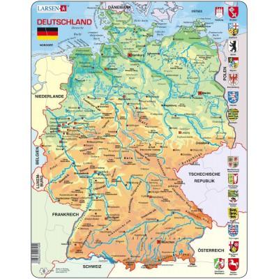 Larsen-K40-DE Rahmenpuzzle - Deutschland