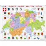 Larsen-K43-CH Rahmenpuzzle - Die Schweiz