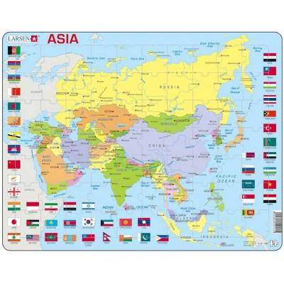 Larsen-K44-GB Rahmenpuzzle - Asien (auf Englisch)