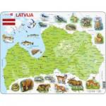 Larsen-K46 Rahmenpuzzle - Lettland (auf Lettisch)