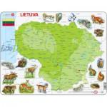 Larsen-K47 Rahmenpuzzle - Litauen (auf Litauisch)