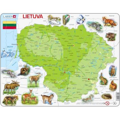 Larsen-K47-LT Rahmenpuzzle - Litauen (auf Litauisch)