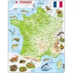 Larsen-K49-FR Rahmenpuzzle - Frankreich (auf Französisch)