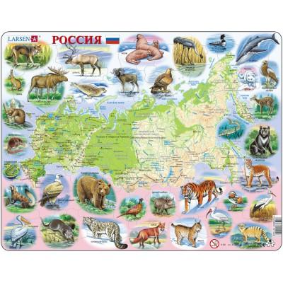 Larsen-K50-RU Rahmenpuzzle - Russland (auf Russisch)