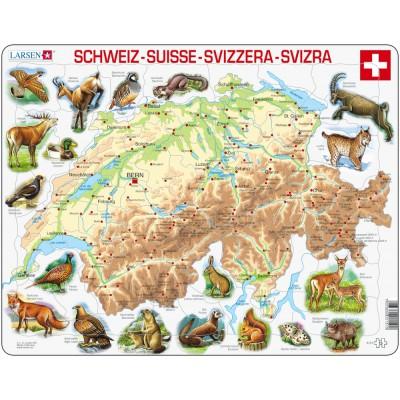 Larsen-K51-CH Rahmenpuzzle - Die Schweiz