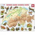 Larsen-K51-V1 Rahmenpuzzle - Die Schweiz
